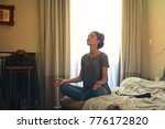 meditation in the morning  | Shutterstock . vector #776172820