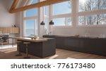 modern kitchen in classic villa ... | Shutterstock . vector #776173480