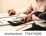 business man working with... | Shutterstock . vector #776174200