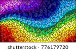 abstract stained glass... | Shutterstock .eps vector #776179720