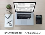 time for taxes planning money... | Shutterstock . vector #776180110