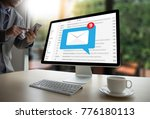 mail communication connection... | Shutterstock . vector #776180113
