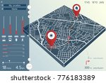 dashboard design of city... | Shutterstock .eps vector #776183389