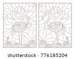 set contour illustrations of... | Shutterstock .eps vector #776185204