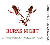 burns night card with thistle...   Shutterstock .eps vector #776185804