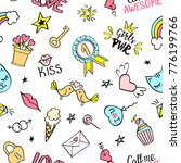 little princess lettering with... | Shutterstock .eps vector #776199766