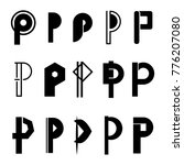 p emblem logo letter style   Shutterstock .eps vector #776207080
