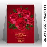wedding invitation  valentine... | Shutterstock .eps vector #776207866