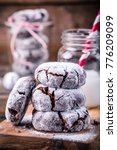 chocolate crinkle cookies with... | Shutterstock . vector #776209099