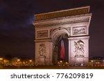 paris arc de triomphe triumphal ... | Shutterstock . vector #776209819