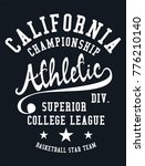 california athletic academy... | Shutterstock .eps vector #776210140