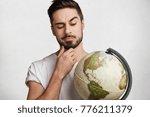 portrait of thoughtful bearded... | Shutterstock . vector #776211379