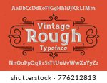 vintage rough typeface with... | Shutterstock .eps vector #776212813
