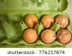 broken eggs with cracked egg... | Shutterstock . vector #776217874