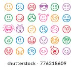 modern outline style emoji... | Shutterstock .eps vector #776218609