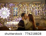 lovers kiss on the background...   Shutterstock . vector #776218828