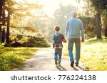 grandfather and grandson... | Shutterstock . vector #776224138