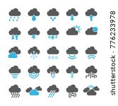 cloud icon set | Shutterstock .eps vector #776233978
