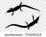 sticker on car of reptile ...   Shutterstock .eps vector #776245114