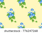 blue morning glory seamless on... | Shutterstock .eps vector #776247268