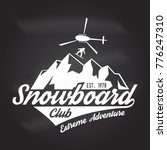 snowboard club. vector. concept ... | Shutterstock .eps vector #776247310