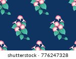pink morning glory seamless on... | Shutterstock .eps vector #776247328