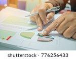 businessman preparing reports... | Shutterstock . vector #776256433