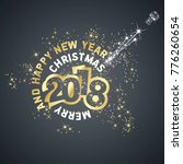 merry christmas happy new year... | Shutterstock .eps vector #776260654