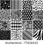 vector different black patterns | Shutterstock .eps vector #77626312