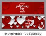 valentine's day love and... | Shutterstock .eps vector #776265880