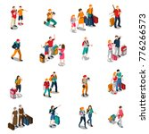 travel people isometric icons... | Shutterstock . vector #776266573