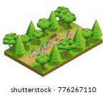 camping hiking isometric... | Shutterstock . vector #776267110