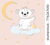 cute teddy bear on the cloud... | Shutterstock .eps vector #776267650