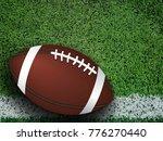 american football ball on green ... | Shutterstock . vector #776270440