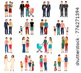flat set of male and female... | Shutterstock . vector #776271394
