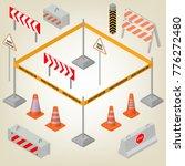 set of road signs repairs... | Shutterstock . vector #776272480