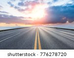 empty asphalt highway and blue... | Shutterstock . vector #776278720