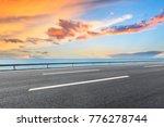 empty asphalt highway and blue... | Shutterstock . vector #776278744