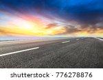 empty asphalt highway and blue...   Shutterstock . vector #776278876
