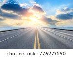 empty asphalt highway and blue... | Shutterstock . vector #776279590
