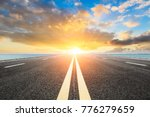 empty asphalt highway and blue... | Shutterstock . vector #776279659