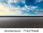 empty asphalt highway and blue... | Shutterstock . vector #776279668
