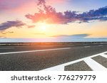 empty asphalt highway and blue... | Shutterstock . vector #776279779