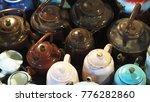 vintage teapot on the market