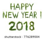 2018 new year. two thousand... | Shutterstock . vector #776289004