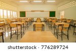 lecture room or school empty... | Shutterstock . vector #776289724