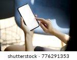 cropped shot of an... | Shutterstock . vector #776291353