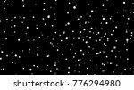 white snow on black background. ... | Shutterstock . vector #776294980