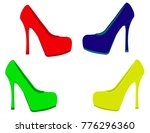 elegant women shoes | Shutterstock .eps vector #776296360