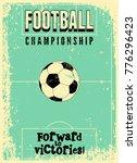 Football Typographic Vintage...